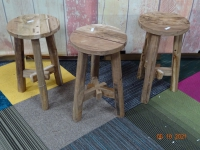 Ronde houten krukjes  Import India